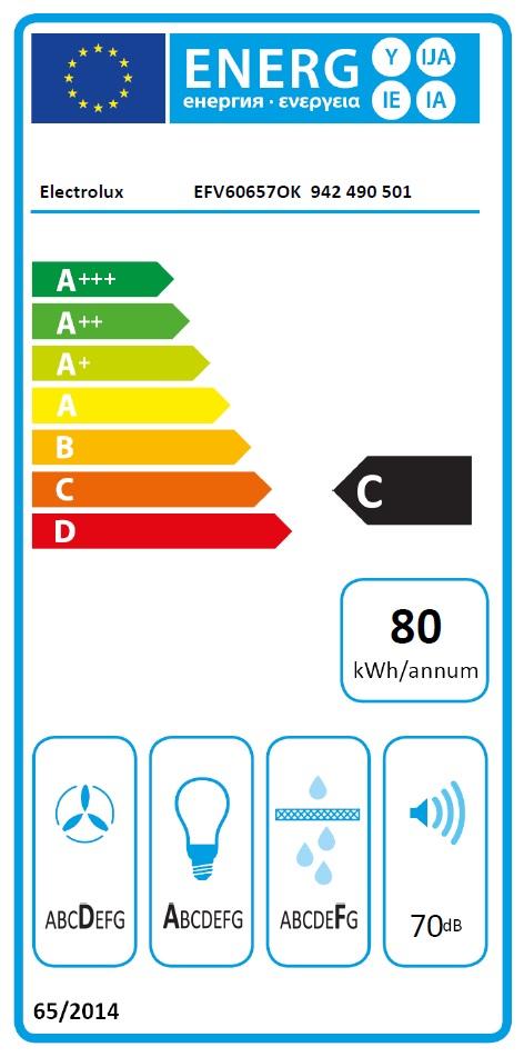 Obrázek galerie pro produkt Electrolux EFV60657OK 600 FLEX LEDSpot Odsavač par komínový šikmý černý 90cm