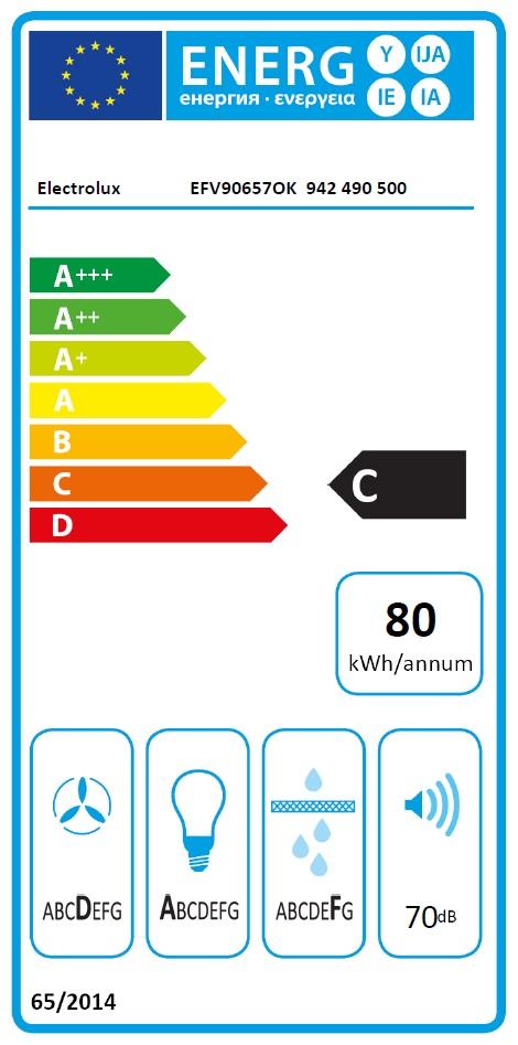 Obrázek galerie pro produkt Electrolux EFV90657OK 600 FLEX LEDSpot Odsavač par komínový černý 90cm