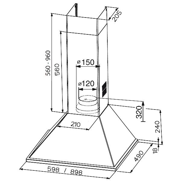 Obrázek galerie pro produkt Faber Synthesis HIP PB X A60 + AKCE a Záruka 5 LET, Digestoř komínová 60cm, nerez