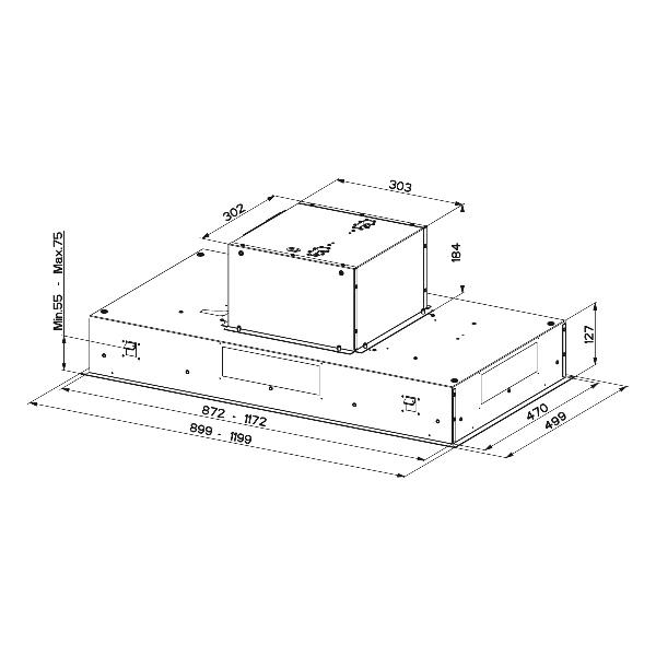 Obrázek galerie pro produkt Faber Heaven 2.0  X A90 + AKCE Záruka 5 LET, Digestoř vestavná stropní se šířkou 90cm