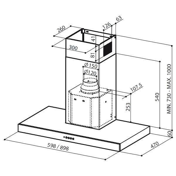 Obrázek galerie pro produkt Faber Stilo SP EV8 X A90 + AKCE Záruka 5 let, Digestoř komínová 90cm, nerez