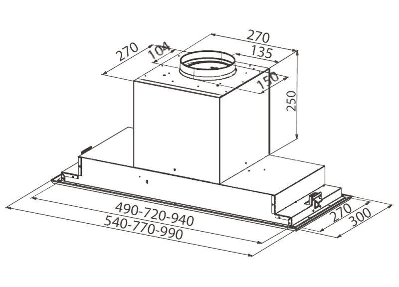 Obrázek galerie pro produkt Faber Victory 2.0 X A99 + AKCE, Digestoř vestavná do skříňky 99cm, nerez