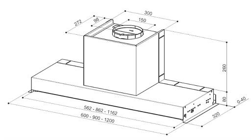 Obrázek galerie pro produkt Faber In-Nova Comfort EG6 X A90 + AKCE, Digestoř vestavná 90cm, nerez