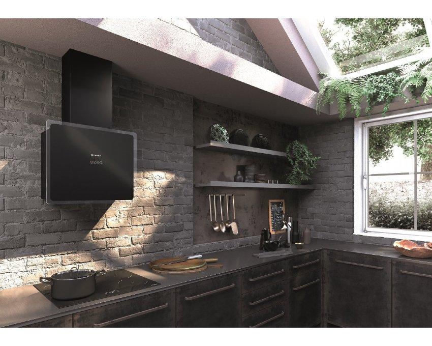 Obrázek galerie pro produkt Faber Glam-Fit BK A55 + AKCE a Záruka 5 LET, Komínová digestoř 55cm, černá