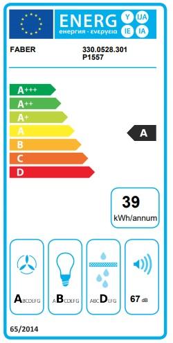 Obrázek galerie pro produkt Faber GLAM-FIT WH A55 + AKCE, Digestoř komínová šikmá 55cm, bílá/bílé sklo, 570m3/hod