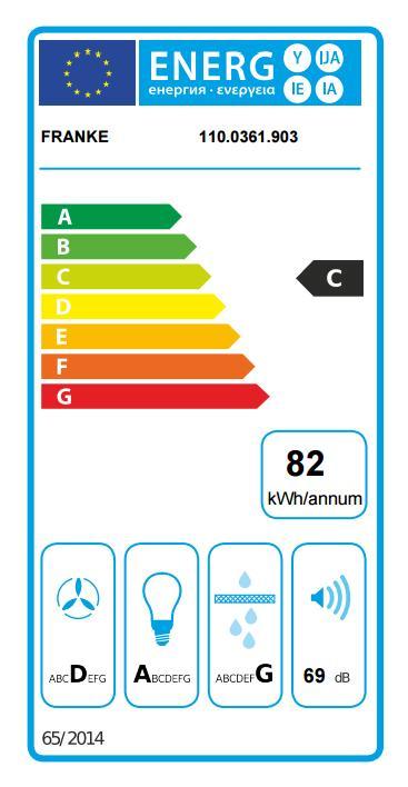 Obrázek galerie pro produkt Franke FPJ 615 V WH A + Dárek%, Digestoř komínová 60cm, Bílé sklo