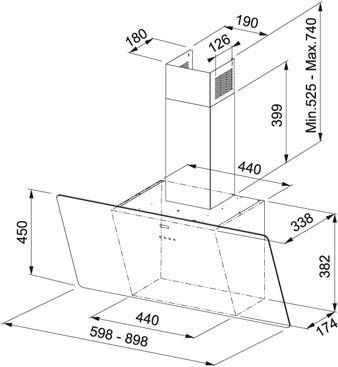 Obrázek galerie pro produkt Franke FPJ 915 V WH A + Dárek%, Komínová digestoř 90cm, bílé sklo