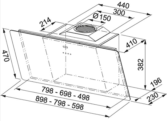 Obrázek galerie pro produkt Franke FSMA 905 WH + DÁREK, Digestoř komínová šikmá 90cm, Bílé sklo