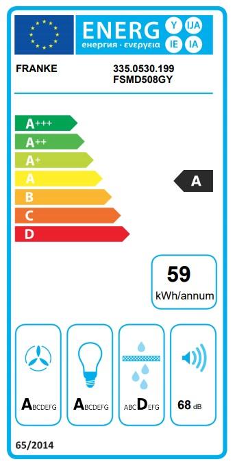 Obrázek galerie pro produkt Franke FSMD 508 GY světle šedá + DÁREK, Digestoř komínová designová 50cm