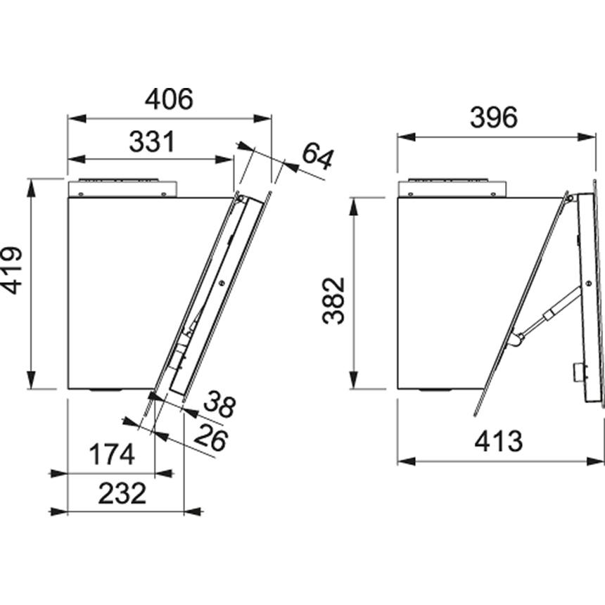 Obrázek galerie pro produkt Franke Maris 2.0 FMA 2.0 907 BK + DÁREK%, Komínový odsavač par 90cm, černá/černé sklo