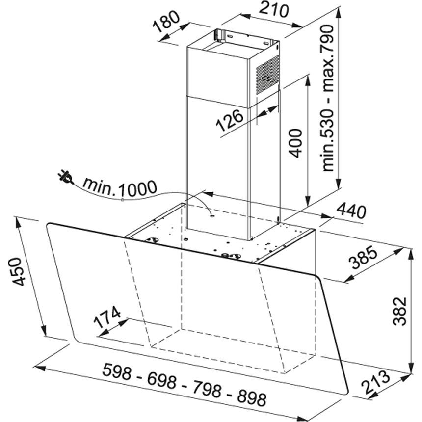 Obrázek galerie pro produkt Franke Evo Plus FPJ 705 V WH/SS + DÁREK, Komínový odsavač par 70cm, nerez/bílé sklo