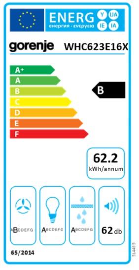 Obrázek galerie pro produkt Gorenje WHC623E16X Essential Komínová digestoř nerez 60cm, 505m3/hod