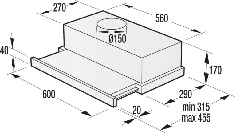Obrázek galerie pro produkt Gorenje BHP62CLB Classico Retro výsuvná digestoř 60cm černá