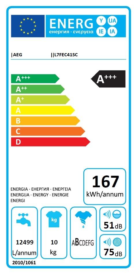 Obrázek galerie pro produkt AEG ProSteam L7FEC41SC Parní pračka s předním plněním A+++-30%,10kg, 1400ot/min