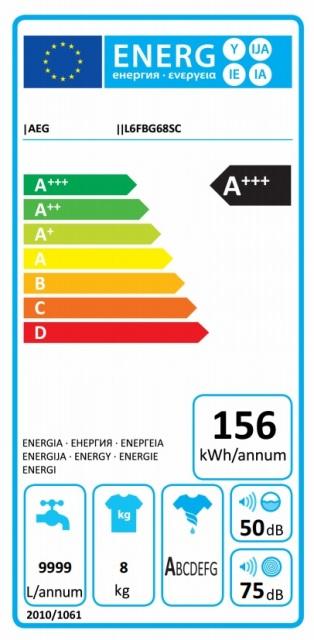 Obrázek galerie pro produkt AEG ProSense L6FBG68SC Pračka s kapacitou 8kg, A+++-30%,1600ot/min