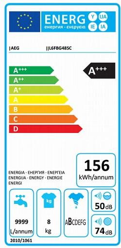 Obrázek galerie pro produkt AEG ProSense L6FBG48SC Pračka s kapacitou 8kg, A+++-30%, 1400ot/min