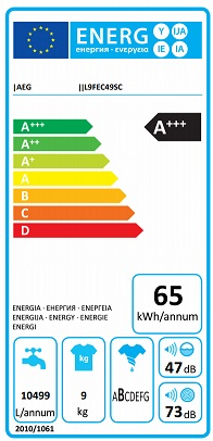 Obrázek galerie pro produkt AEG SoftWater L9FEC49SC Parní pračka s předním plněním 9kg, A+++-70%,1400ot/min