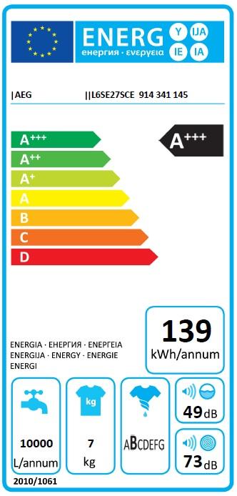 Obrázek galerie pro produkt AEG L6SE27SCE ProSense Pračka úzká s hlubokou 45cm, A+++, 7kg, 1200ot/min.