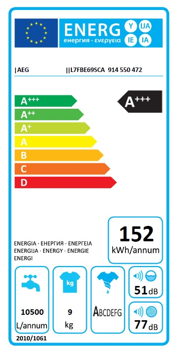 Obrázek galerie pro produkt AEG ProSteam L7FBE69SCA AutoDose Parní pračka s kapacitou 9kg, A+++-30 %