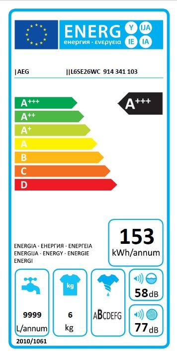 Obrázek galerie pro produkt AEG L6SE26CC ProSense Pračka předem plněná úzká s parní funkcí, A+++ -10%, 6kg