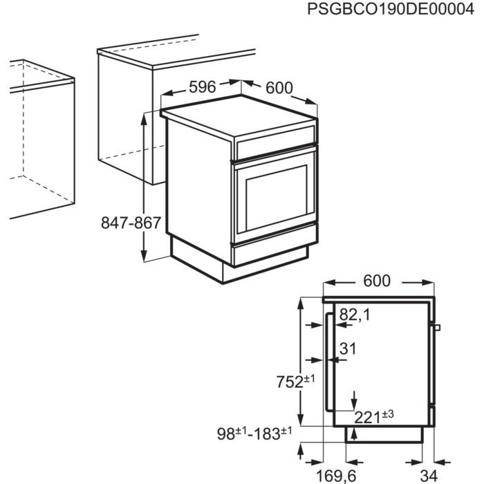 Obrázek galerie pro produkt AEG Mastery CCB6440BBW Sklokeramický sporák bílý se šířkou 60cm
