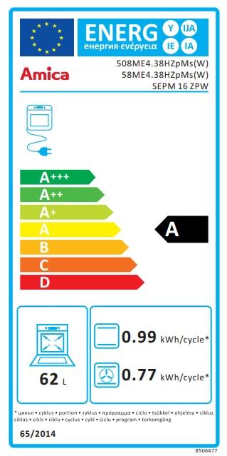 Obrázek galerie pro produkt Amica SEPM 16 ZPW + AKCE, Kombinovaný sporák bílý 50cm, 3x plyn a 1x litinová plotýnka