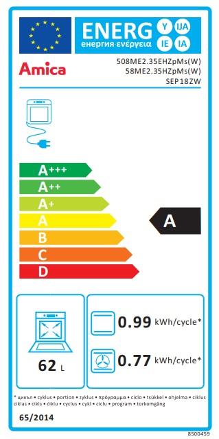 Obrázek galerie pro produkt Amica SEP 18 ZW Kombinovaný sporák bílý 50cm, 2x plyn a 2x litinová plotna