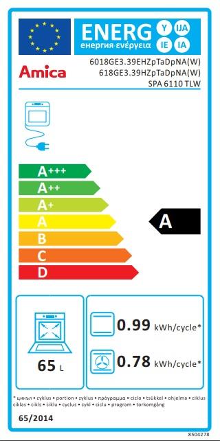 Obrázek galerie pro produkt Amica SPA 6110 TLW + AKCE, Kombinovaný sporák bílý 60 cm, WOK hořák, litinové rošty