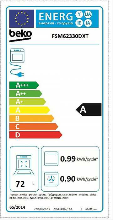 Obrázek galerie pro produkt Beko FSM62330DXT Kombinovaný sporák nerez se šířkou 60cm