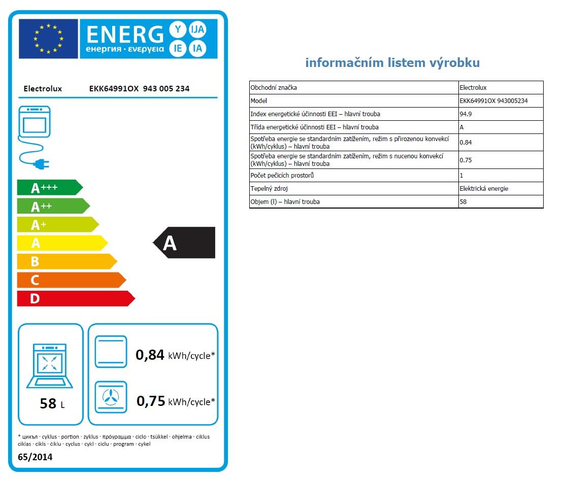 Obrázek galerie pro produkt Electrolux EKK64991OX PlusSteam Kombinovaný sporák nerez 60cm s parní funkcí SteamBake