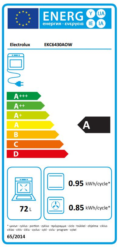 Obrázek galerie pro produkt Electrolux EKC6430AOW Sporák se sklokeramickou deskou bílý 60cm