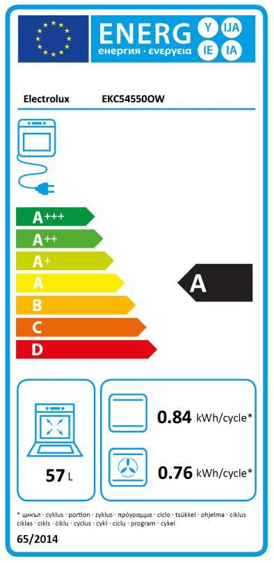 Obrázek galerie pro produkt Electrolux EKC54550OW Sklokeramický sporák bílý 50cm