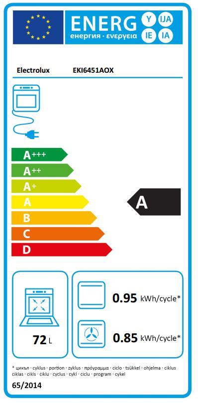 Obrázek galerie pro produkt Electrolux EKI6451AOX Sporák s indukční deskou 60cm, nerez, trouba Multi 8