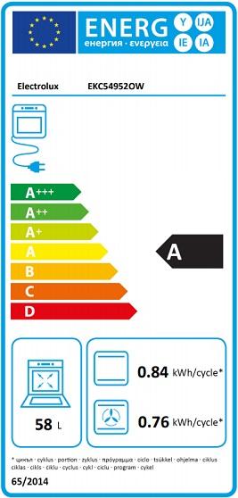 Obrázek galerie pro produkt Electrolux EKC54952OW PlusSteam Sklokeramický sporák bílý 50cm, parní funkce