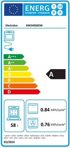 Obrázek galerie pro produkt Electrolux EKK54950OW PlusSteam Kombinovaný sporák bílý 50cm s parní funkcí