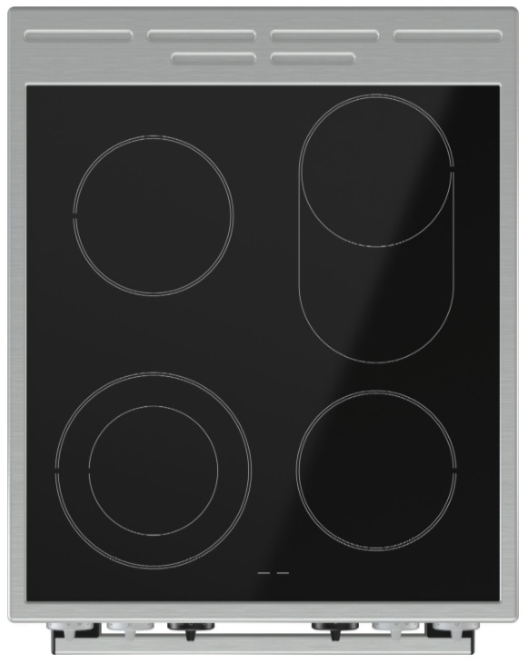 Obrázek galerie pro produkt Gorenje EC5351XA Sklokeramický sporák nerez 50cm, Víceúrovňové pečení, AquaClean