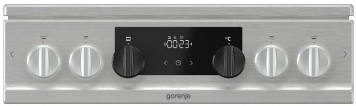 Obrázek galerie pro produkt Gorenje K5352XF Kombinovaný sporák nerez 50cm, Víceúrovňové pečení, AquaClean