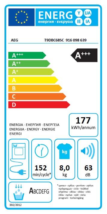 Obrázek galerie pro produkt AEG T9DBC68SC FiberPro 3DScan Sušička prádla s tepelným čerpadlem, A+++, kapacita 8kg