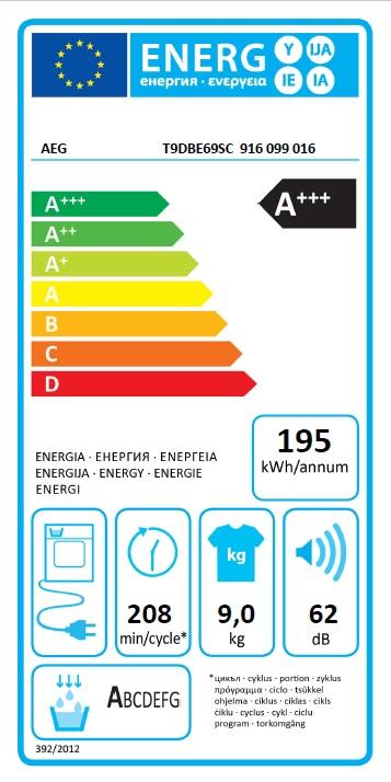Obrázek galerie pro produkt AEG T9DBE69SC FiberPro 3DScan Sušička prádla s tepelným čerpadlem, A+++, kapacita 9kg