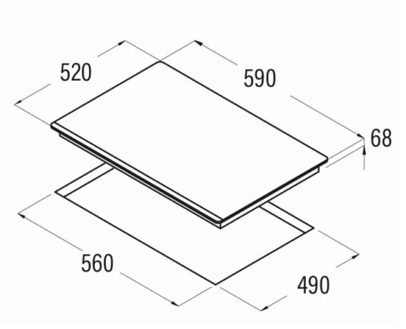 Obrázek galerie pro produkt Cata IF 6002 BK Varná indukční deska 60cm, 4 varné zóny