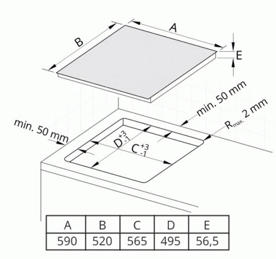Obrázek galerie pro produkt Cata IB 6304 BK Indukční varná deska 60cm, 4 varné zóny