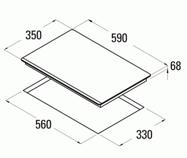 Obrázek galerie pro produkt Cata IB 2 PLUS BK + AKCE, Indukční varná deska dvouplotýnková, horizontální