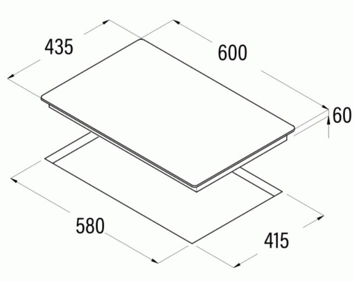 Obrázek galerie pro produkt Cata IB 5004 BK + AKCE, Indukční varná deska 4 varné zóny, hloubka jen 44cm