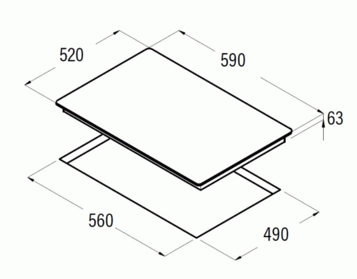 Obrázek galerie pro produkt Cata IB 6203 BK Indukční varná deska 60cm, 3 varné zóny