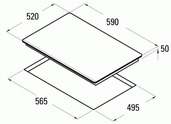 Obrázek galerie pro produkt Cata GIGA 600 BK + AKCE, Indukční varná deska 60cm, 4 varné zóny, gigazóna 40cm