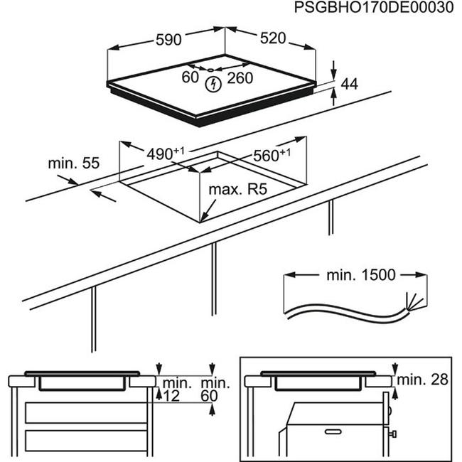 Obrázek galerie pro produkt Electrolux LIR60430 Série 300 Varná indukční deska 60 cm, Hob2Hood