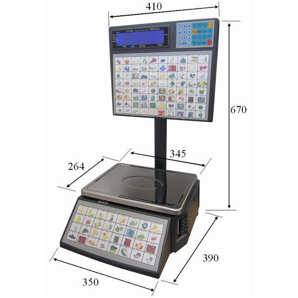 Obrázek galerie pro produkt ACLAS LS2S615, 6/15kg + DÁREK, Obchodní váha s tiskem etiket pro samoobslužný prodej