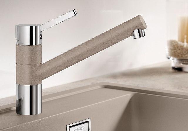 Obrázek galerie pro produkt Blanco TIVO Silgranit bílá/chrom + DÁREK, Dřezová baterie /517603/