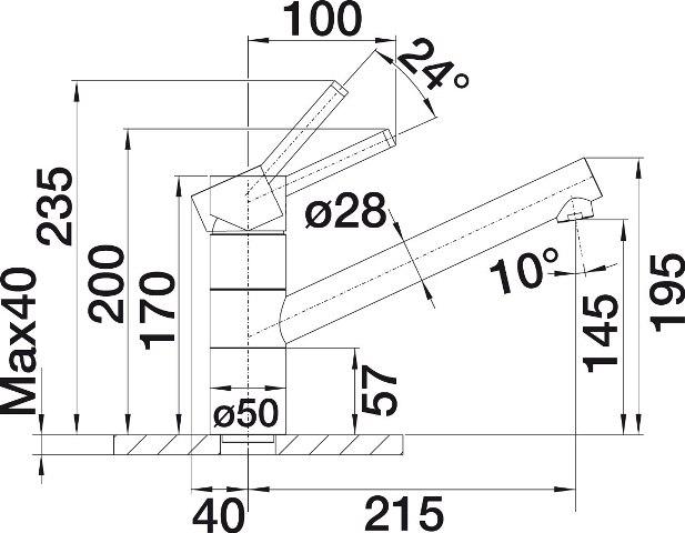 Obrázek galerie pro produkt Blanco TIVO Silgranit antracit/chrom (517600) + DÁREK, Dřezová baterie