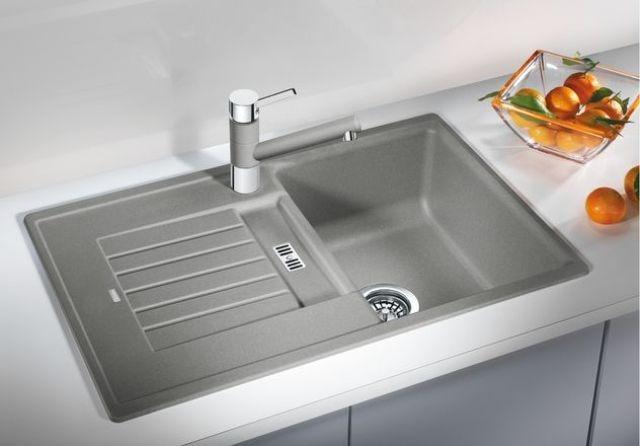 Obrázek galerie pro produkt Blanco ZIA 45 S Silgranit bílá + DÁREK, Granitový jednodřez s odkapem /514726/ oboustranné provedení
